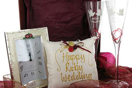 40th Ruby Wedding Anniversary Gifts Pack 1 Brilliant Gift Ideas
